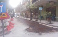 Λάρισα: Ασφαλτοστρώνουν στο κέντρο από το πρωί
