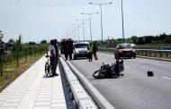 Φρικτό τροχαίο: Ακρωτηριάστηκε το πόδι μοτοσικλετιστή στη Λάρισα!