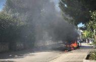 Οπαδοί της ΑΕΚ έκαψαν το όχημα από τους οπαδούς του ΠΑΟΚ