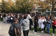 Αποκλεισμός στην οδό Παπαναστασίου από σπουδαστές του ΤΕΙ Λάρισας
