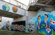Γκράφιτι με μήνυμα ενάντια στο μίσος στη Λάρισα (φωτο)