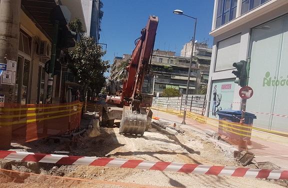 Κλειστό τμήμα της οδού Ηπείρου για ένα μήνα λόγω ανακατασκευής
